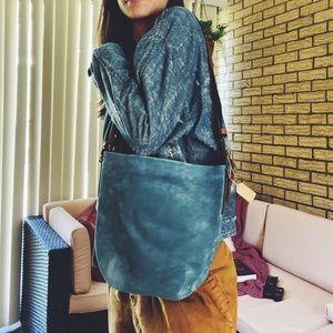 Coach blue shade bucket bag